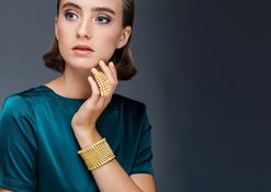 'Resonance' Armband und Ganzfinger Ring